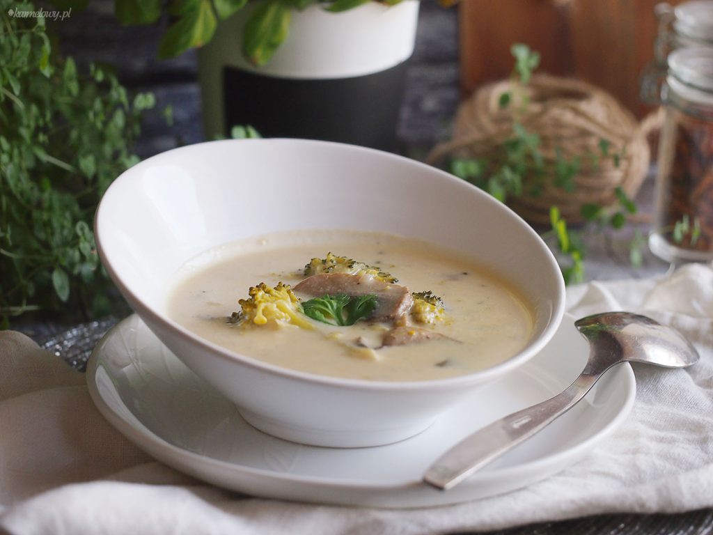 Zupa serowa z brokułami / Broccoli cheese soup