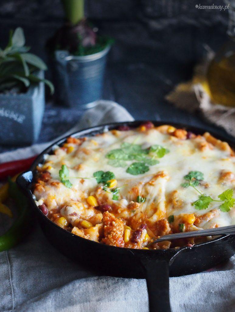 Meksykańska lazania z patelni / Mexican skillet lasagna