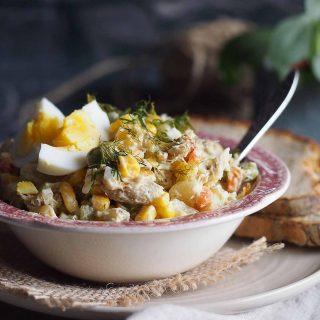 Salatka-jarzynowa-z-wedzona-makrela-Vegetable-and-smoked-mackerel-salad