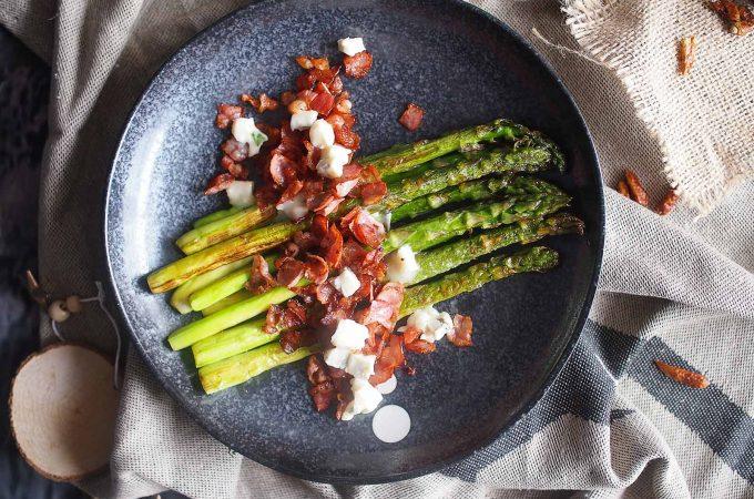 Szparagi z boczkiem i gorgonzolą / Bacon gorgonzola asparagus