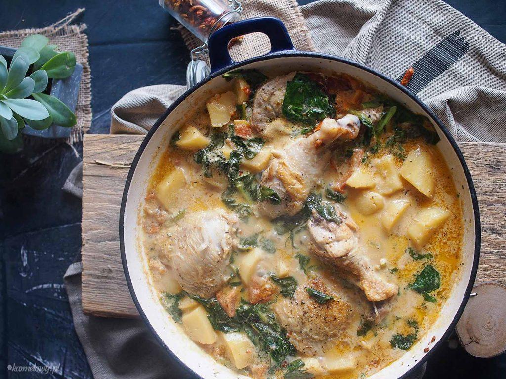Kurczak-duszony-z-mlodymi-ziemniakami-i-szpinakiem-Braised-chicken-with-baby-potatoes-and-spinach