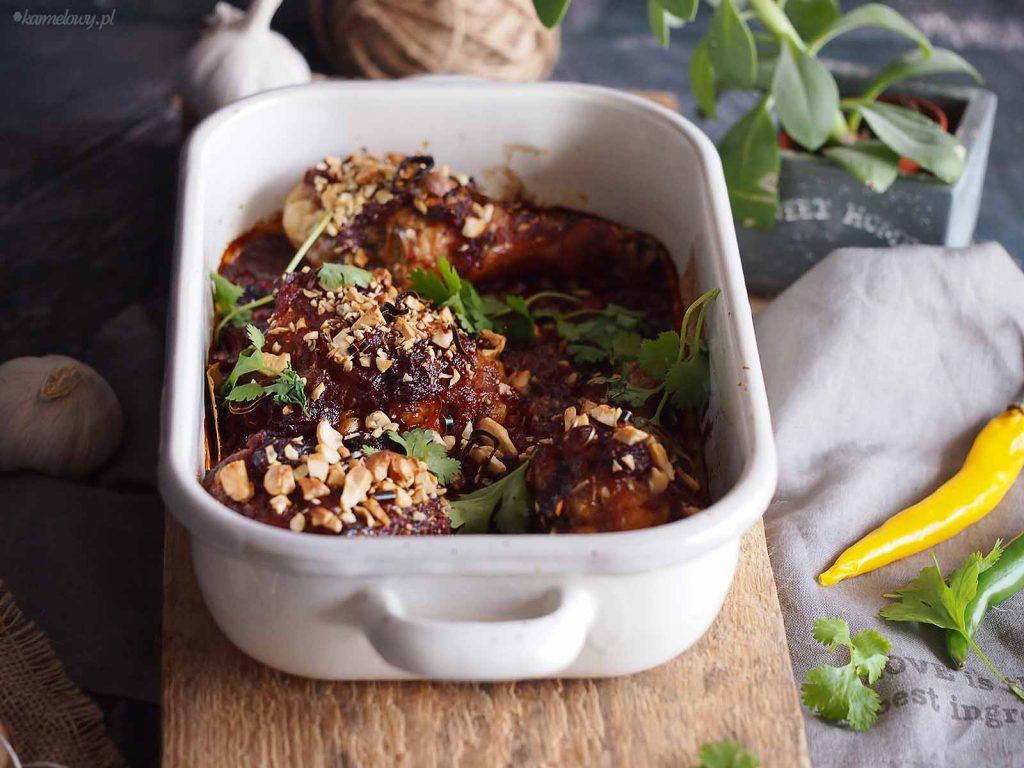 Kurczak-pieczony-w-sosie-rabarbarowo-wisniowym-Roasted-chicken-with-rhubarb-and-cherry-sauce