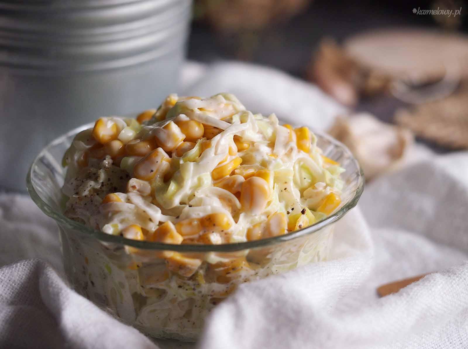 Surowka-z-pora-z-kukurydza-Leek-and-corn-salad