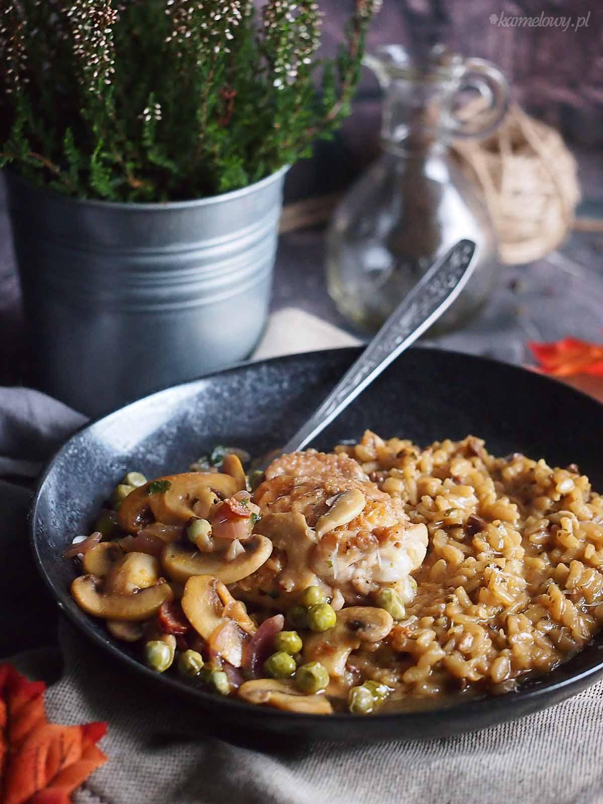 Risotto-grzybowe-z-kurczakiem-Mushroom-risotto-with-chicken