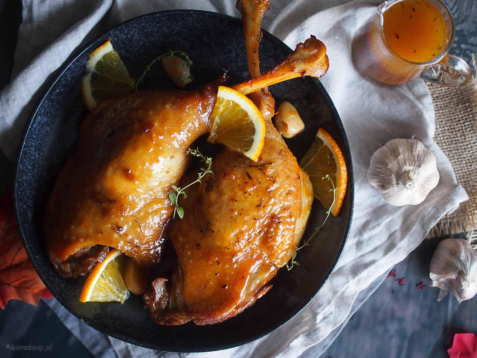 Udka-gesie-duszone-w-karmelu--Goose-legs-braised-with-caramel-sauce