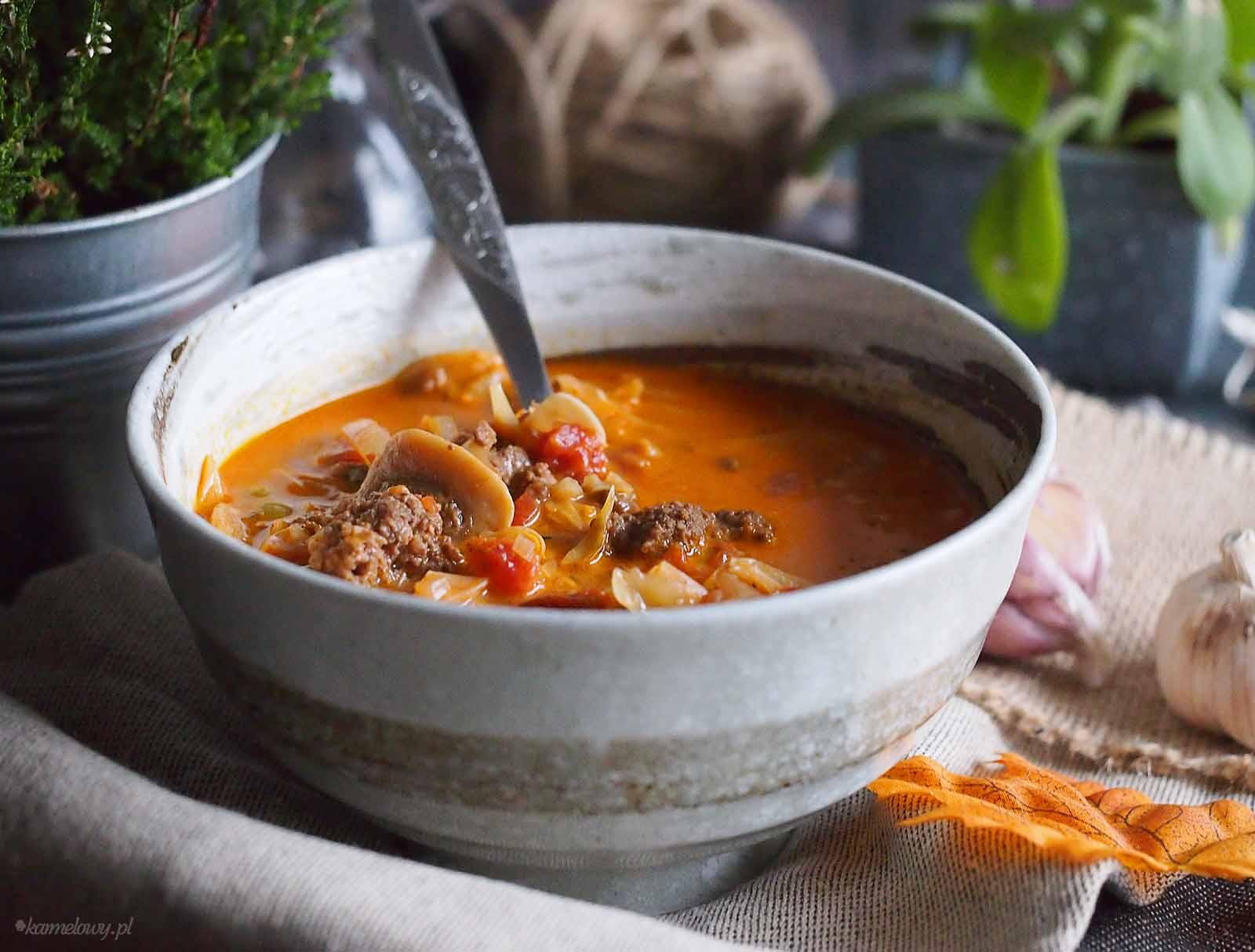 Sycacy-kapusniak-z-miesem-i-grzybami-Cabbage-soup-with-meat-and-mushrooms