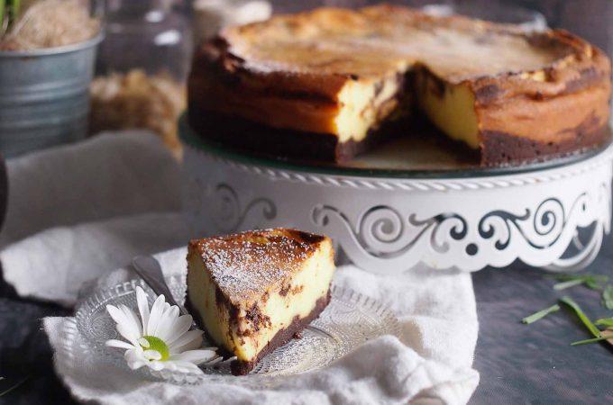Sernik waniliowo-czekoladowy / Vanilla chocolate cheesecake