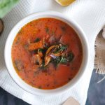 Botwinka-z-boczniakami-Young-beet-soup-with-oyster-mushrooms