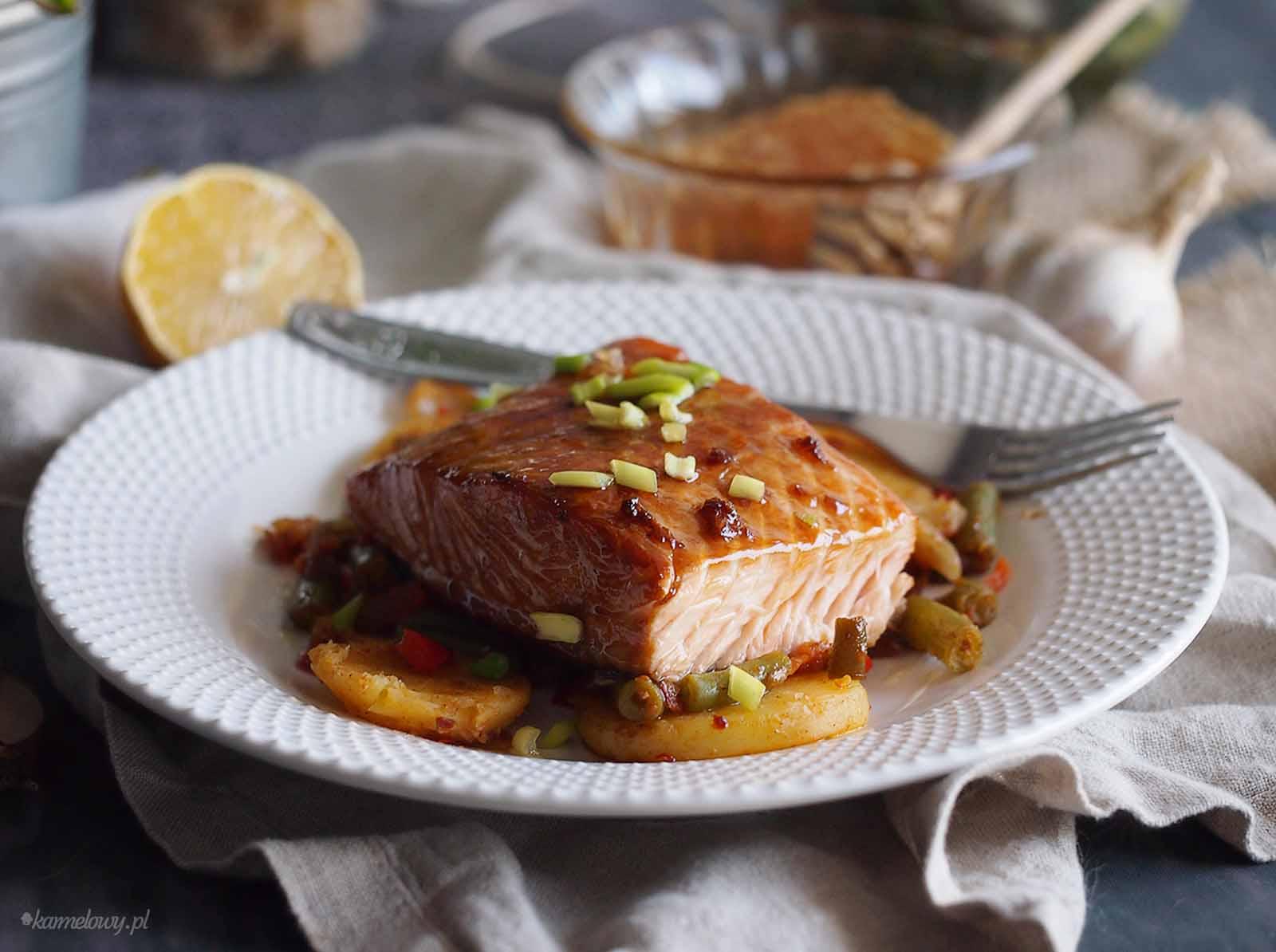 Losos-w-miodowej-glazurze-Honey-glazed-salmon