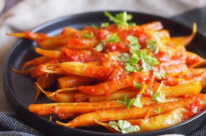 Fasolka szparagowa w pomidorach / Yellow beans with tomato sauce