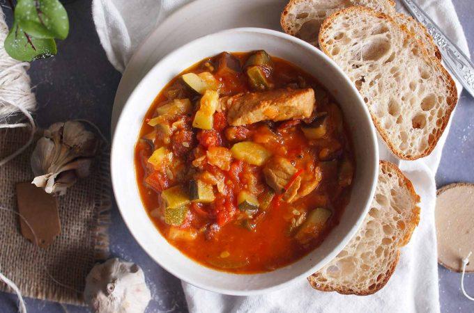 Leczo z cukinii z mięsem / Meaty zucchini stew