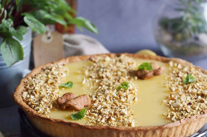 Tarta cytrynowa z pistacjami / Lemon tart with pistachios