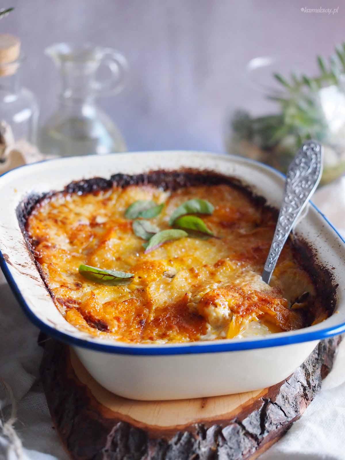 Ziemniaki-zapiekane-z-dynia-i-brie-Pumpkin-potato-gratin-with-brie