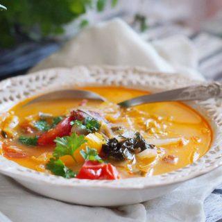 Zupa-warzywna-z-kielbasa-Vegetable-soup-with-sausage