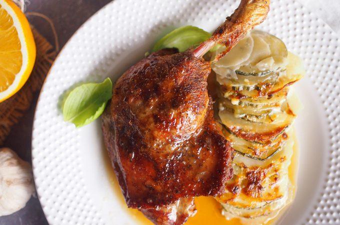 Pieczone kacze udka w sosie słodko-kwaśnym / Roasted duck legs with sweet sour sauce