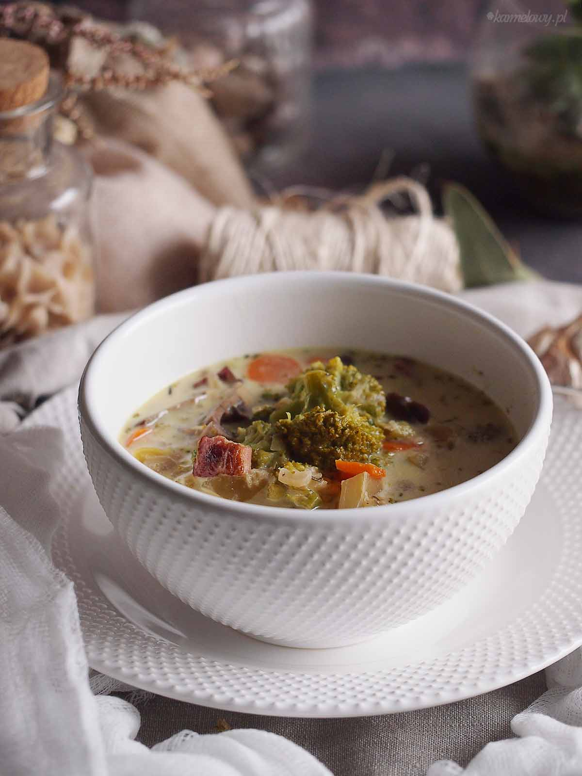 Zupa-brokulowa-z-pieczarkami-Broccoli-and-mushroom-soup