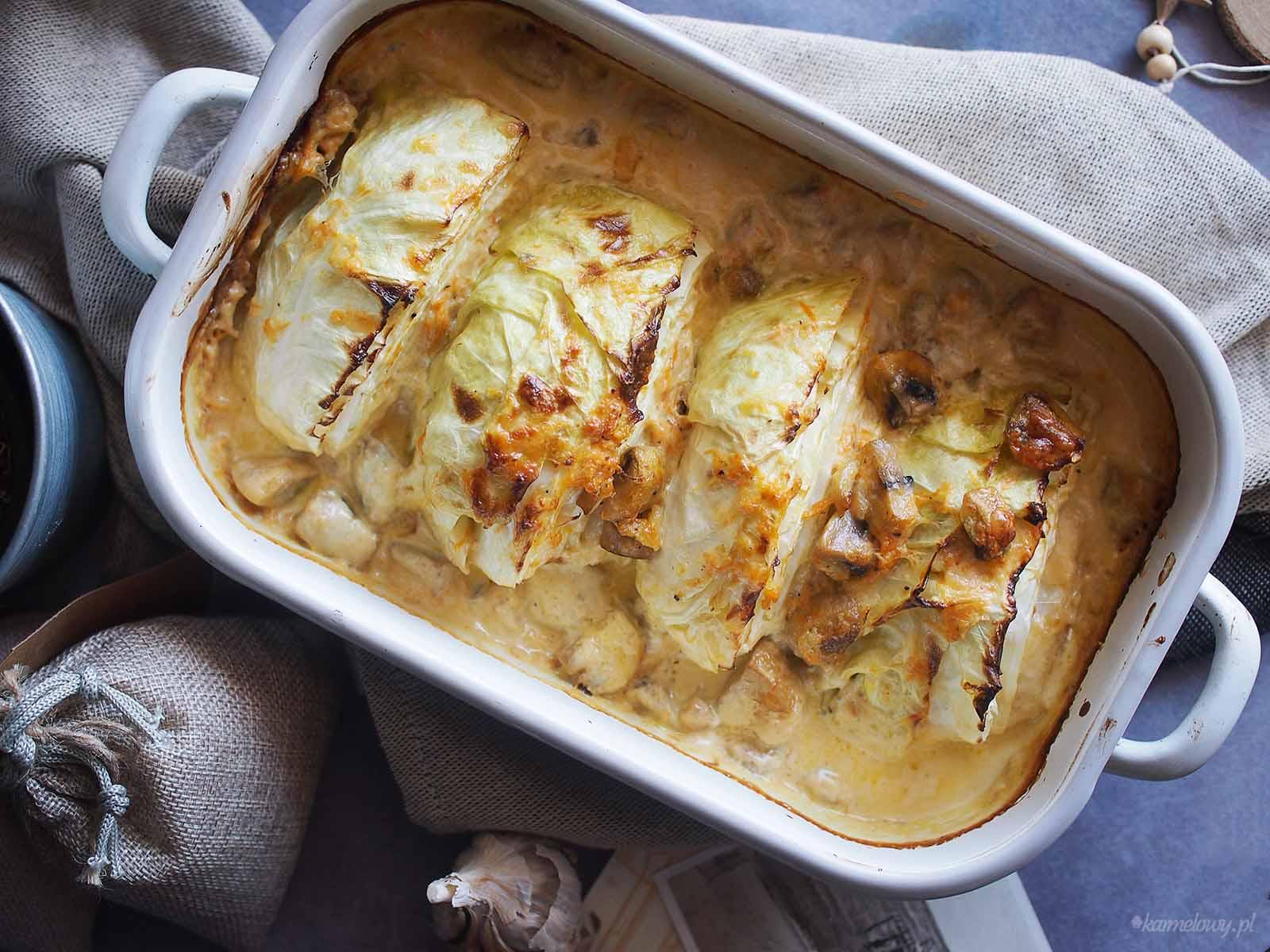 Mloda-kapusta-zapiekana-w-smietanie-Creamy-young-cabbage-bake