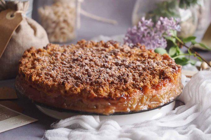 Rabarbar pod migdałową kruszonką / Rhubarb almond crumble