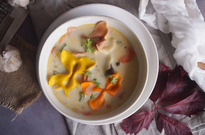 Zupa neapolitańska z kurczakiem / Chicken neapolitan soup